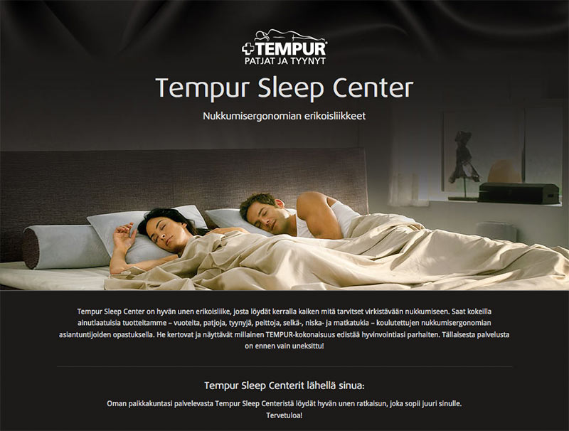Tempur Sleep Center